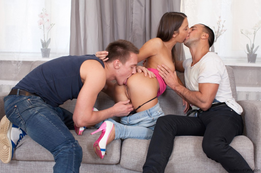 Nubilesporn hot coed loves huge cock 1