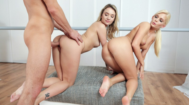 Petite Ballerinas Fucked Angel Piaff & Candee Licious in Naughty Threesome